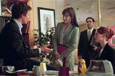 "(L-r:) HUGH GRANT, SANDRA BULLOCK, JASON ANTOON and ALICIA WITT in Castle Rock Entertainment's romantic comedy ""Two Weeks Notice,"" distributed by Warner Bros. Pictures. ©2002 Warner Bros"
