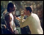 "Jimmy (Eminem) finds his voice in a showdown with rival rapper Lotto (Nashawn Breedlove) in ""8 Mile"""