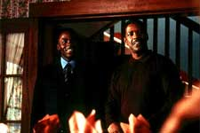 Derek Luke and Denzel Washington in Fox Searchlight's Antwone Fisher - 2002