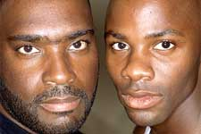The real Antwone Fisher and Derek Luke in Fox Searchlight's Antwone Fisher - 2002