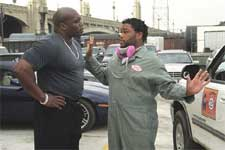Lester Speight and Anthony Anderson in Warner Brothers' Cradle 2 The Grave - 2003