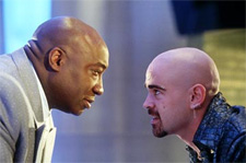 Michael Clarke Duncan as Kingpin and Colin Farrell as Bullseye in 20th Century Fox's Daredevil - 2003