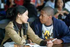 Devon (Nick Cannon) strikes up a romance with upperclassman Laisa (Zoe Saidana)