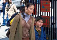Jennifer Lopez and Tyler Posey in Columbia's Maid In Manhattan - 2002