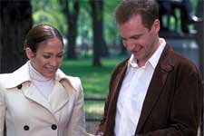 Jennifer Lopez and Ralph Fiennes in Columbia's Maid In Manhattan - 2002