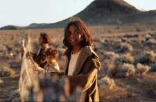 (left to right) Laura Monaghan as Gracie, Tianna Sansbury as Daisy and Everlyn Sampi as Molly in Phillip Noyce's RABBIT-PROOF FENCE.