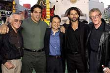 Stan Lee, Lou Ferrigno, Ang Lee, Eric Bana and Nick Nolte at the LA premiere of Universal's The Hulk - 6/17/2003