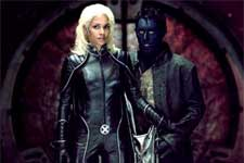 Halle Berry as Storm and Alan Cumming as Nightcrawler in 20th Century Fox's X2: X-Men United - 2003