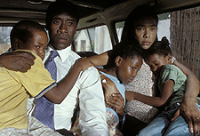 Don Cheadle and Sophie Okonedo in United Artists' Hotel Rwanda