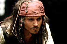 Johnny Depp of Walt Disney's Pirates Of The Caribbean: The Curse of the Black Pearl - 2003