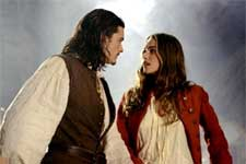 Orlando Bloom and Keira Knightley of Walt Disney's Pirates Of The Caribbean: The Curse of the Black Pearl - 2003
